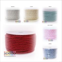 Cordoncino 3mm x 17metri - Vari colori disponibili