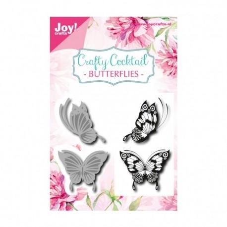 Fustella Metallica Farfalle Joy!Crafts Butterflies + Timbri 6004/0014