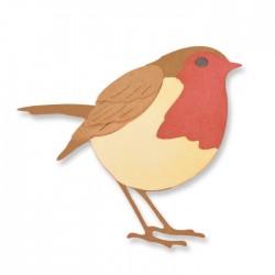 Fustella Uccellino Pettirosso Sizzix Thinlits Die Set - Little Robin 661724