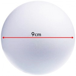 Sfera di Polistirolo 9cm - Palla di Polistirolo da Decorare 9cm