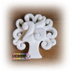 Albero della Vita 25 anni - Albero della Vita con numero 25 - Gessetto profumato 4cm