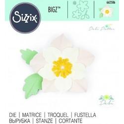 Fustella Rosa D'Inverno Sizzix Bigz Die - Winter Rose 662586