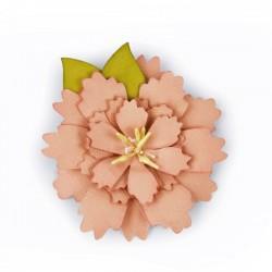 Fustella Sizzix Bigz Die - Wild Layered Flower 661735 Fiore Selvatico con Foglia