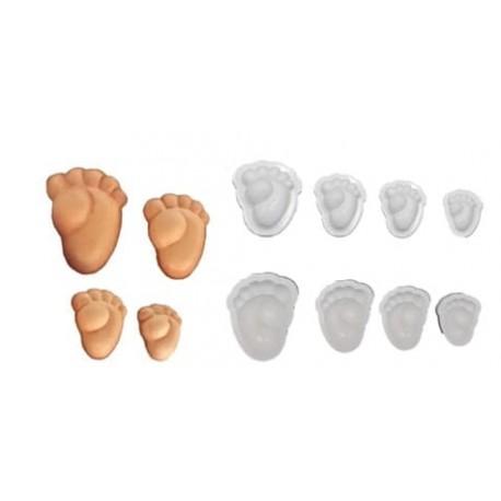 Stampo Piedini Bebè in Gomma Crepla - 4 dimensioni differenti 31085