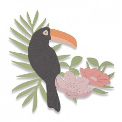 Fustella Uccello Tropicale - Sizzix Thinlits Die - Tropical Bird 662544