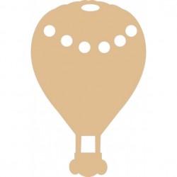 Mongolfiera MDF - Ballon 19x29cm