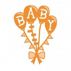 Fustella Baby Palloncini - Baby Balloons Die Set - 1267E Tonic Studios Fustelle Metalliche