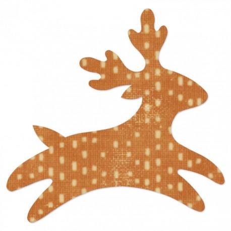 Fustella Renna Sizzix Bigz Die - Reindeer 3 659549 Fustella Natale