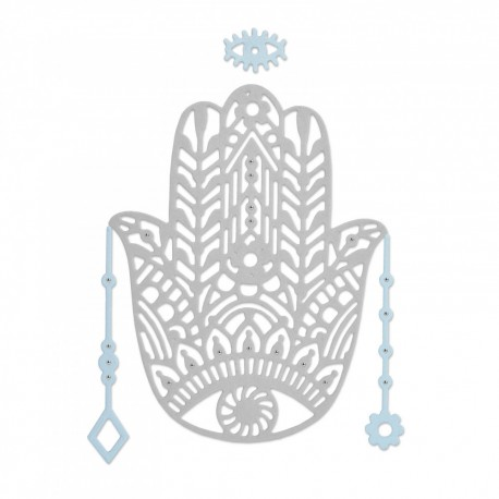 Fustella Sizzix 663367  Thinlits Die Set 4PK - Hand Charm Mano