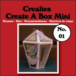 Fustella Metallica Mini Lanterna Scatolina - Create A Box Mini n.1 Lantern Crealies CCABM01