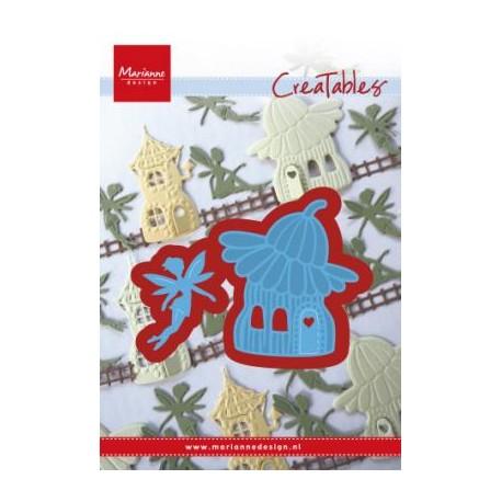 Fustella Fatina Marianne Design Creatables LR0579 FAIRY FLOWER HOUSE Casa con Fiore