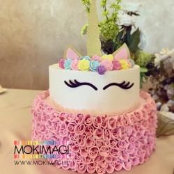 Torta Unicorno - Torta Finta Unicorno in Gomma Crepla - Torta Scenografica Battesimo, Compleanno, ecc...