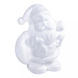Babbo Natale di Polistirolo - Santa Claus con Orsetto 17,5cm
