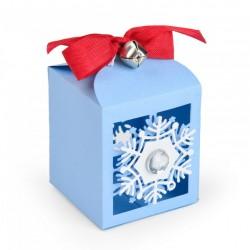 Fustella Scatolina di Natale con Fiocchi di Neve - Sizzix Thinlits Die Set 4PK - Snowflake Favor Box663610