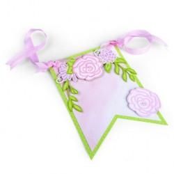 Fustella Festone Floreale - Sizzix Thinlits Die Set - Floral Banner 662364