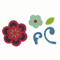 Fustella Fiori + Rametti + Foglia Sizzix Bigz Die - Flower & Flourish 660451