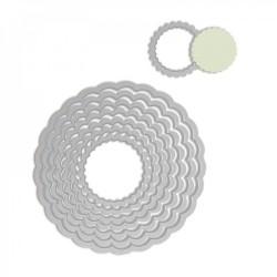 Fustelle Cornici Tonde Decorative - Sizzix Framelits Die Set 8PK - Circles, Scallop 657552