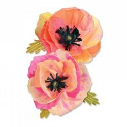 Fustella Papavero Grande - Sizzix Thinlits Die Set 4PK - Large Poppy 661090