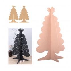 Albero in MDF - 24x41 cm Albero di Natale da decorare
