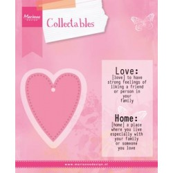 Fustella Cuore + Timbri Marianne Design Collectables LOVE COL1334