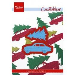 Fustella Albero di Natale e Macchina Marianne Design Creatables DRIVING HOME FOR CHRISTMAS LR0567