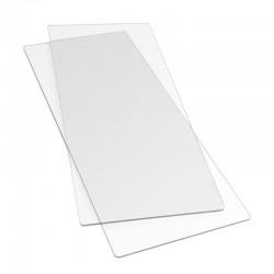 Sizzix Accessory - Cutting Pads, Extended Coppia Tappetini Trasparenti da Taglio per Sizzix Big Shot 655267