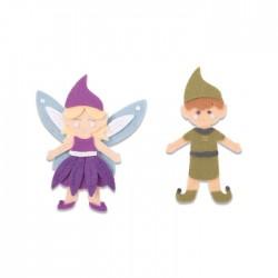 Fustella Elfo e Fatina - Sizzix Bigz L Die - Elf & Fairy 663495 Fustella Natale