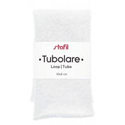 Tubolare Peluche Bianco - 30x8cm