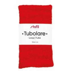 Tubolare Peluche Rosso - 30x8cm