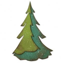 Fustella Albero Pino - Sizzix Bigz Die – Layered Pine 664217