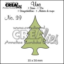 Fustella Albero - Crealies Christmas tree small CLUNO39 Natale