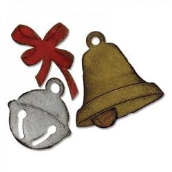 Fustella Campana, Sonaglio e Fiocco Sizzix Bigz Die - Christmas Bells 658765 Natale