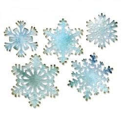 Fustella Fiocchi di Neve Sizzix Thinlits Die Set 5PK - Paper Snowflakes 660059