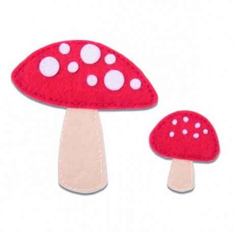 Fustella Funghetti Sizzix Bigz Die - Toadstools 663494 Fustella Funghi