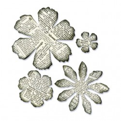 Fustella Fiori Varie Forme - Sizzix Bigz Die - Tattered Florals 656640