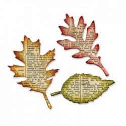 Fustella Foglie Sizzix Bigz Die - Tattered Leaves 656927 Foglia in 3 tipi