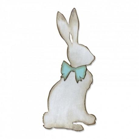 Fustella Coniglio con Fiocco - Sizzix Bigz Die - Cottontail 664167