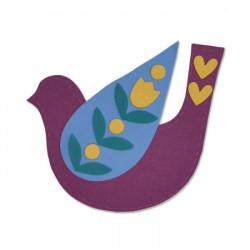 Fustella uccello Sizzix Bigz Die - Folk Bird 663404 uccellino