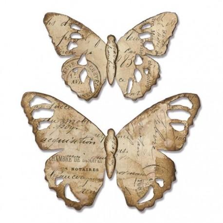 Fustella Farfalle Sizzix Bigz Die - Tattered Butterfly 664166