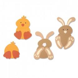 Fustella Coniglio e Pulcino Sizzix Bigz Die - Spring Friends 664388 Fustella Animali