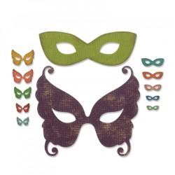 Fustella Maschere di Carnevale Sizzix Thinlits Die Set 12 pezzi - Masquerade 664195