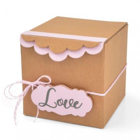 Fustella Scatola Sizzix ScoreBoards XL Die – Box, Gift w/Scallop Edges 664345