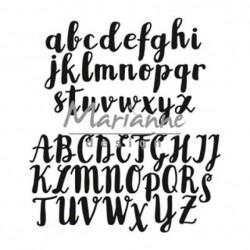 Fustella Alfabeto Corsivo Marianne Design Craftables CR1416 Fustella Lettere Maiuscole e Minuscole