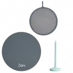 Tappetino Silicone +  Pressa + Griglia Sizzix Shrink plastic accessories 63466