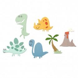 Fustella Dinosauri - Sizzix Thinlits die set 9pk Dinosaurs 664393