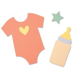 Fustella Baby - Sizzix Bigz Die - Nursery 664389