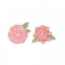 Fustella Fiori con Foglie Sizzix Bigz Die - Flowers With Leaves 662635