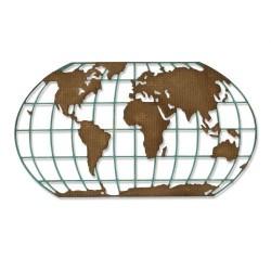 Fustella Mappamondo Sizzix Thinlits Die - Destination 664179