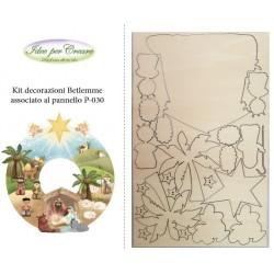 Kit Decorazioni Betlemme (associato al pannello Betlemme) Kit Legno Natale Idee per Creare