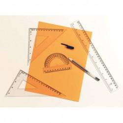 Set Misurazione - 4 strumenti: 1 riga 30cm + 1 goniometro + 2 righe triangolari trasparenti - Darice